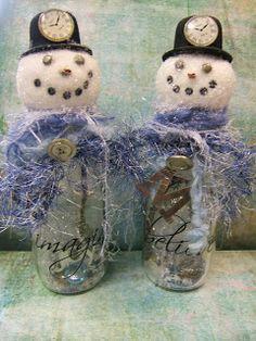 thing bottl, altered bottles, alter booksjournalsbottl, alter bottl, christma, bottleboxtinscddvdjar craft