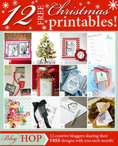 Ruler Holiday Card Display and Free Printables!