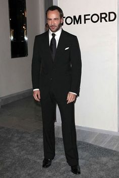 Tom Ford at the opening of his namesake boutique on Rodeo Drive.