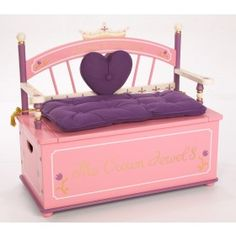 Levels of Discovery Princess Toy Box Bench $179.88 #ZoostoresPIN2WIN  These are so cute!!
