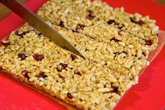Make your own cereal bars