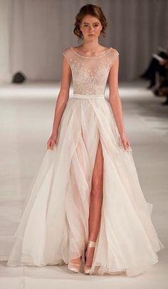 Paolo Sebastian short sleeve wedding dress. The Wedding Scoop Spotlight: Short Sleeve Wedding Dresses