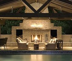 More outdoor fireplaces