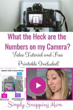 Beginner-level camera tutorial for the visual learner! Roughly 65% of us are visual learners- it is no surprise learning your DSLR camera online is challenging! Check out my easy to follow (and free) video tutorial! and printable guide! #dslrcameratips #camerabasics #beginnerphotographer #camerasettings #photographytips #learnyourcamera