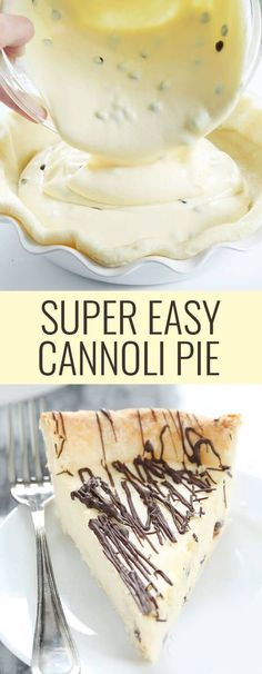 Super Easy Gluten Free Cannoli Pie #desserts #glutenfree