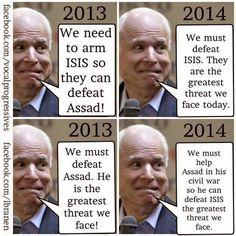 Google+ John McCain being an asshole & playing politics as usual..