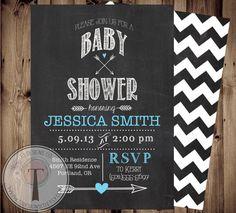 Baby Shower Invitation  Chalkboard Baby Shower by T3DesignsCo, $12.99