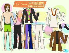 John Lennon paper doll / @deviantART