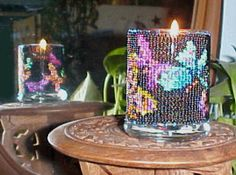 Beaded Butterfly on Black Candle Holder Pattern and Kit. (Click on the picture to see this item on our website). $17.95