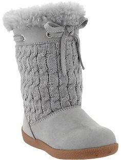 I have to get these for Madi!  Cable-Knit Sweater Boots for Baby | Old Navy... @ni cole and @Lisa Michelle