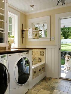 Laundry Room Dog Bath Tub Design