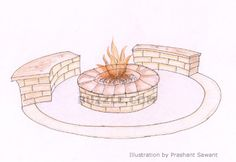 Build your own outdoor fire pit.
