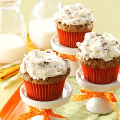 Carrot Cupcakes Recipe from Taste of Home -- shared by Doreen Kelly of Rosyln, Pennsylvania
