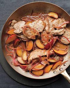 pork and plums - great martha stewart recipe!