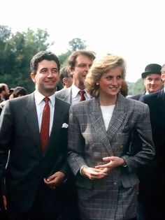Diana with her private secretary, Patrick Jepsohn.
