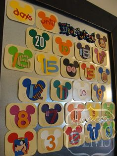 Disney Countdown... so cute!
