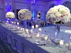 Claire + James | Reception Head Table | @fsdallas