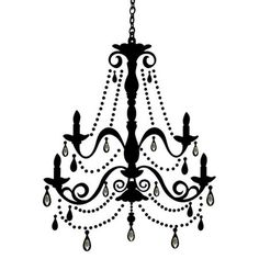 Chandelier with Gems Wall Decal