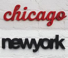 CHICAGO & NEW YORK SIGN by WordBilly