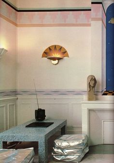 Thierry mugler's paris apartment as photographed for living well: the new york times book of home design and decoration (1981)
