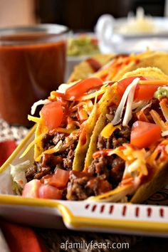 dinner, chicken recipes, classic ground, chicken tacos, taco seasoning, mexican, food, ground beef tacos, famili feast