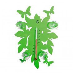 #pluto #thermometer #leaf #butterfly #green #gruen #design Pluto Thermometer Leaf