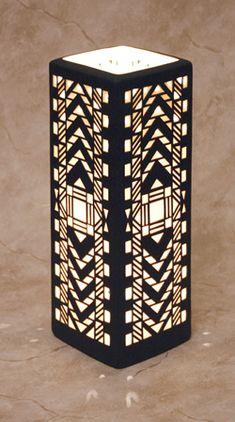 Cool art deco lamp!