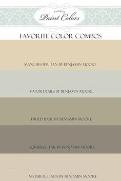color combos and rooms