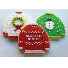 christma cooki, cookie gifts, decorated cookies, sweater cooki, christmas sweaters