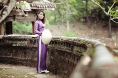 Vietnam Tradition violet Long Dress  by Jet Huynh, via 500px