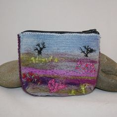 Zipped coin or card purse  Moorland felted and by Lynwoodcrafts, £14.50