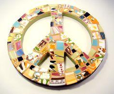 peac sign, mosaic peac, art peac, peace signs, peac mosaic, old china, retro vintage, stepping stones, mosaic art