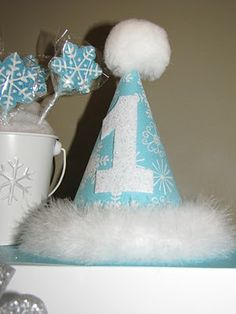 winter onederland, birthday parties, party hats, birthday hats, birthday idea