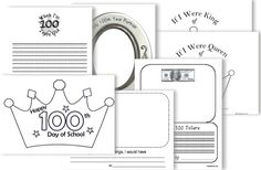 100th day printables classroom, school, 100th day, februari, gifts, educ, activ, 100s, printabl
