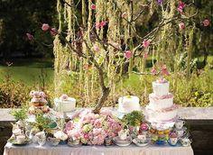 dream teagarden, dessert tables, tea parti, pink roses, garden tea party decorations, country weddings, teagarden parti, garden parties, cake display