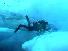 Scuba diving under ice