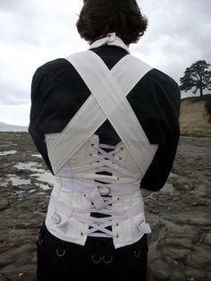 Men's Straight Jacket Corset, Back by ~Vic-Dustrael on deviantART