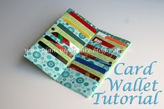 Card Wallet Tutorial - would look great made with SU fabric