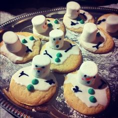 Christmas Cookies melted snowman #meltedsnowmancookies #christmascookies #meltedsnowmanchrismascookies