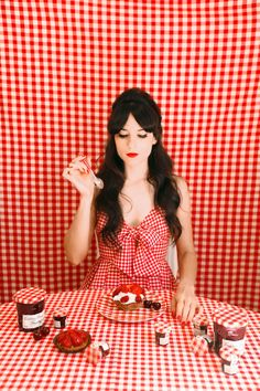 This strawberry-and-gingham retro picnic couldn't be more lovely to look at!