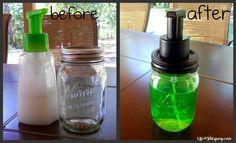 DIY - Mason jar foaming soap pump