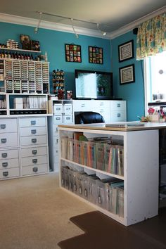 "If I had a room like this I would HAVE to figure out how to make a living being a crafter, because there's no way I'd leave it long enough to do my ""real job."""