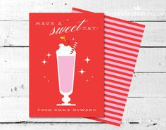 Have A Sweet Day Personalized Valentine Card by TheCelebrationShoppe.com