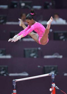 Gabby Douglas gymnast gymnastics  from Kythoni's Aly, Gabby, Kyla, Jordyn (Raisman, Douglas, Ross, Wieber) board http://pinterest.com/kythoni/aly-gabby-kyla-jordyn-raisman-douglas-ross-wieber/ m.at.38.4