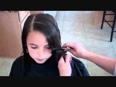 """How to cut side swept bangs- I wonder if """"E"""" wants this..."""