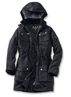 Barbour parka damen