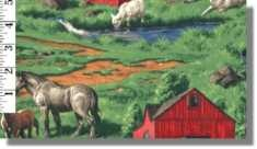 animals and barn