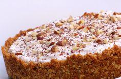 Be still my heart... cinnamon chai cream pie with hazelnut crust.