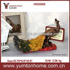 Resin Peacock Home Decor Figurine Photo photo 3/4