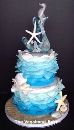 Blue sea cake by Vagabond Baker